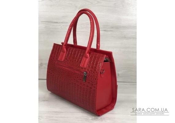 Каркасна жіноча сумка Селін з ланцюжком червоного кольору WeLassie