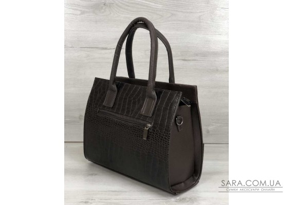 Каркасна жіноча сумка Селін з ланцюжком шоколадного кольору WeLassie