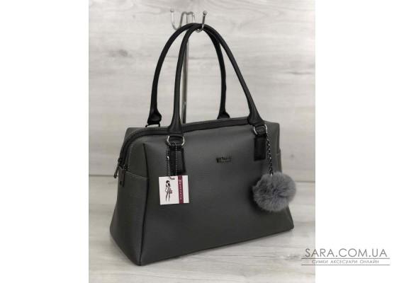 Жіноча сумка Агата сірого кольору WeLassie