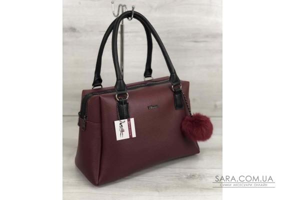 Жіноча сумка Агата бордового кольору WeLassie
