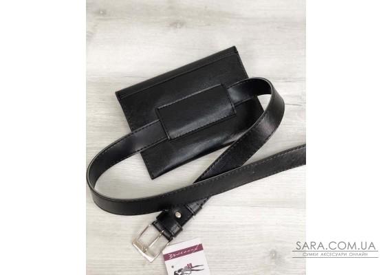 Жіноча сумка на пояс чорного кольору WeLassie
