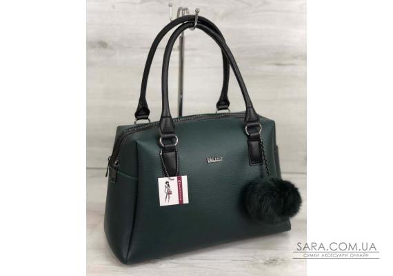 Жіноча сумка Агата зеленого кольору WeLassie