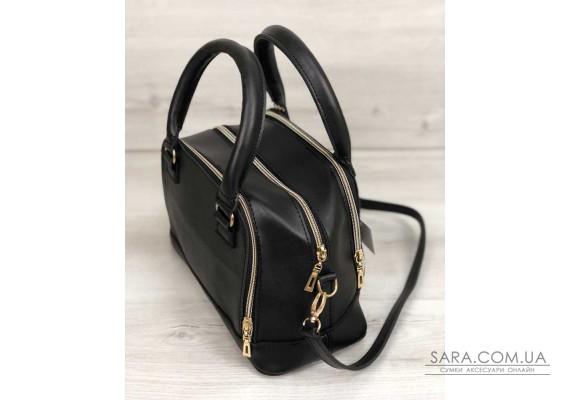 Жіноча сумка Лілі чорного кольору WeLassie