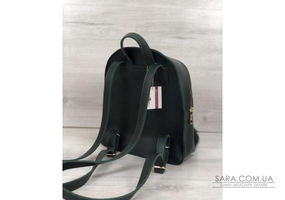 Рюкзак молодіжний Бонні з пушком зеленого кольору WeLassie