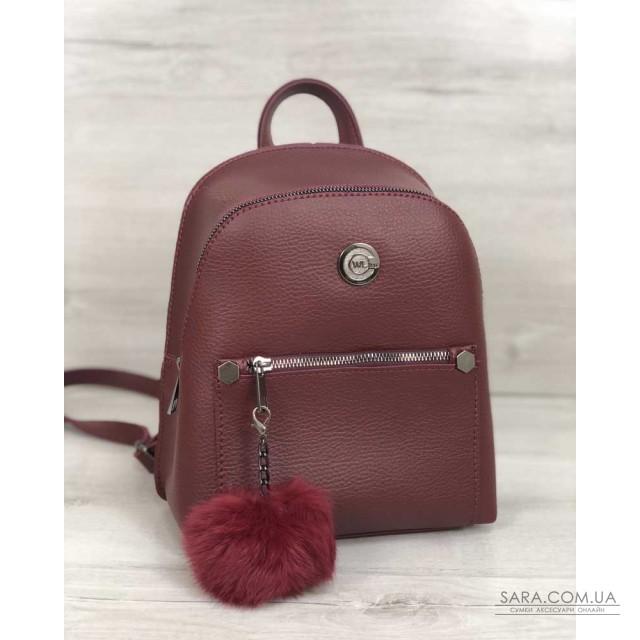 Рюкзак молодіжний Бонні з пушком бордового кольору WeLassie дешево