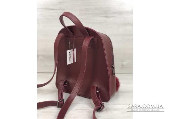 Рюкзак молодіжний Бонні з пушком бордового кольору WeLassie