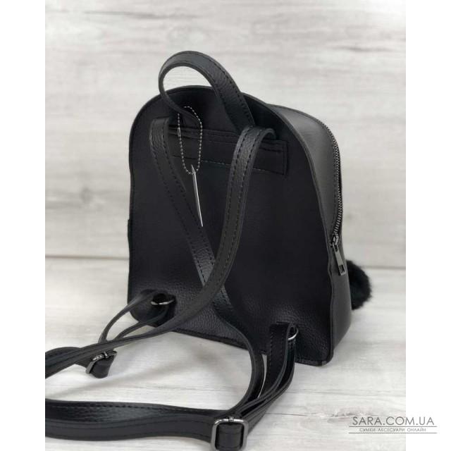 Рюкзак молодіжний Бонні з пушком чорного кольору WeLassie дешево