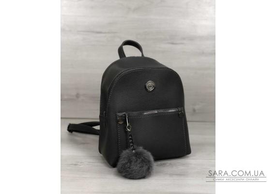 Рюкзак молодіжний Бонні з пушком сірого кольору WeLassie