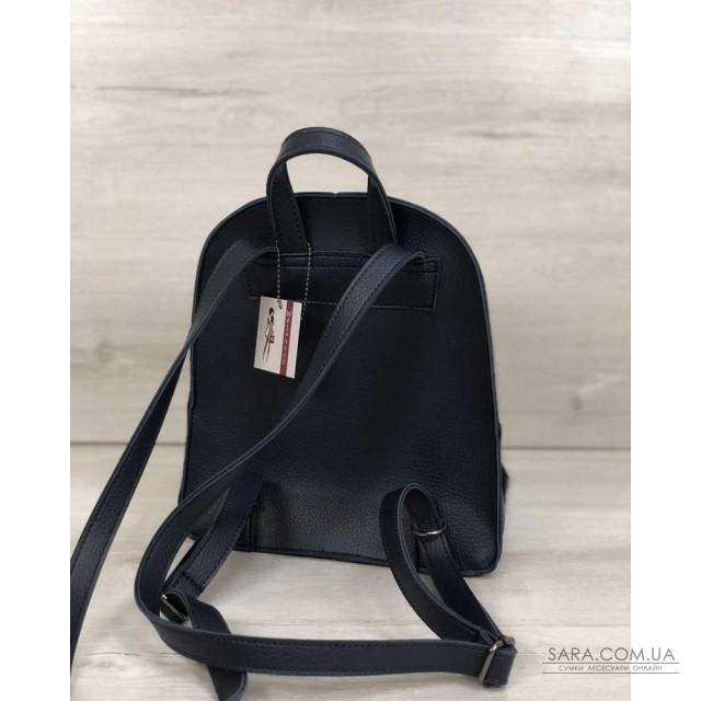 Рюкзак молодіжний Бонні з пушком синього кольору WeLassie дешево