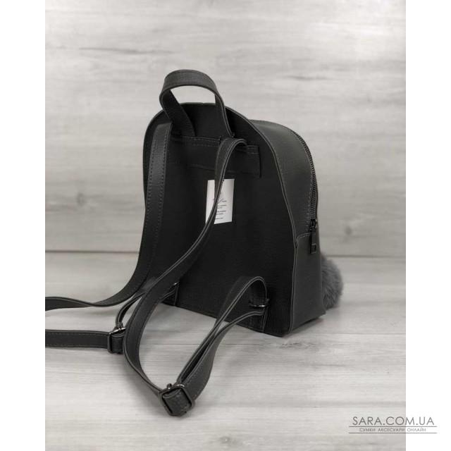 Рюкзак молодіжний Бонні з пушком сірого кольору WeLassie дешево