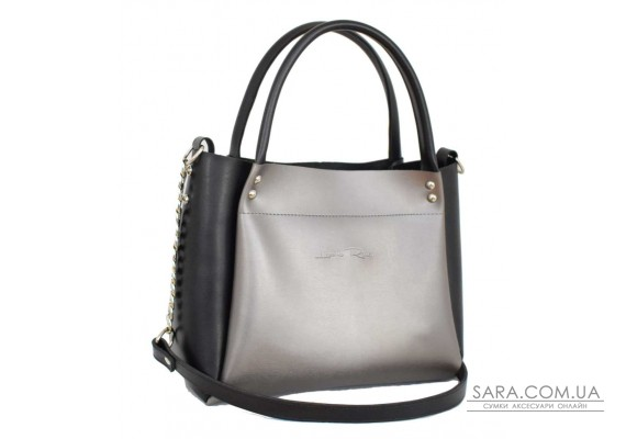 529 сумка чорна срібло н Lucherino