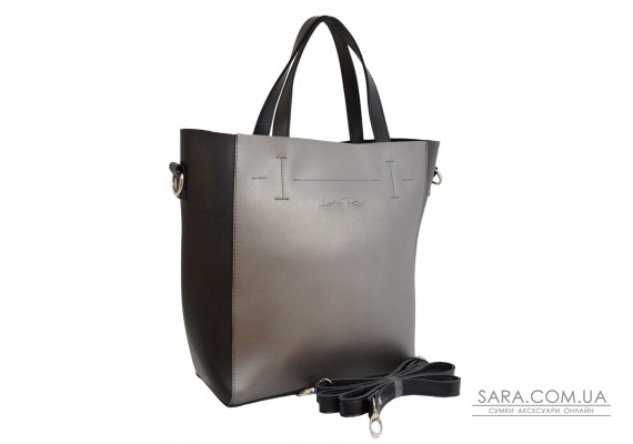 519 сумка чорна срібло Lucherino