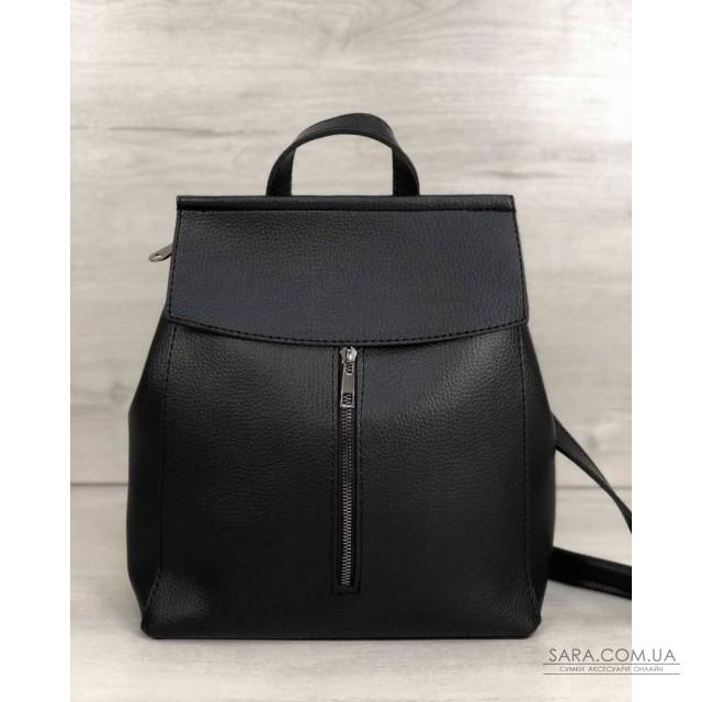 Молодежный сумка-рюкзак Фаби черного цвета WeLassie дешево