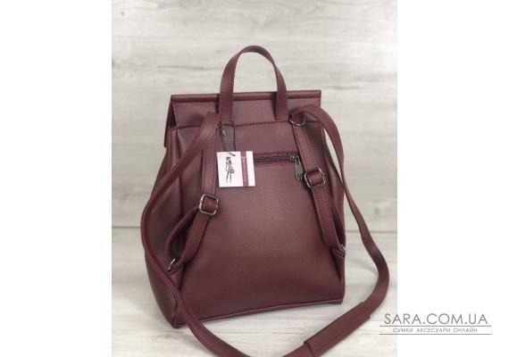 Молодіжний сумка-рюкзак Фабі бордового кольору WeLassie