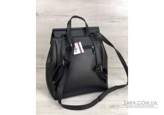 Молодежный сумка-рюкзак Фаби черного цвета WeLassie