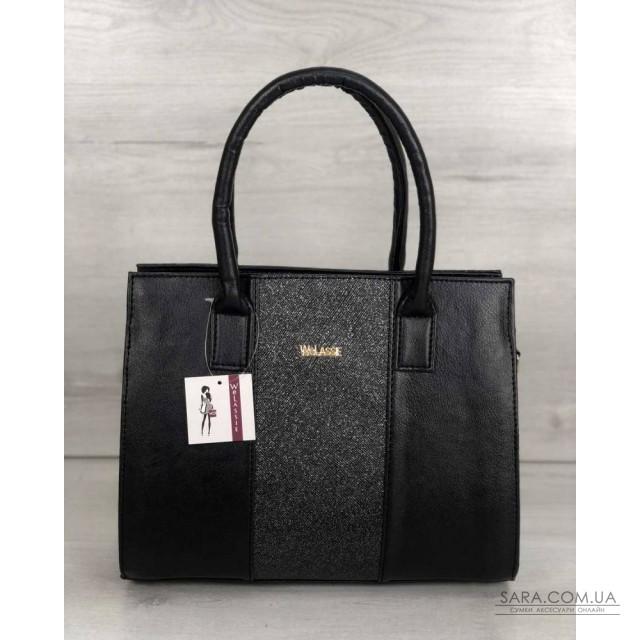 c20bd62b5a48 Каркасная женская сумка Селин черного цвета со вставкой блеск WeLassie  дешево