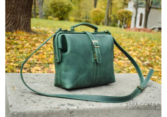 Сумка шкіряна Classic Green 906077 Babak