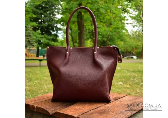 Сумка шкіряна Shopper Bordo-shine 894013 Babak