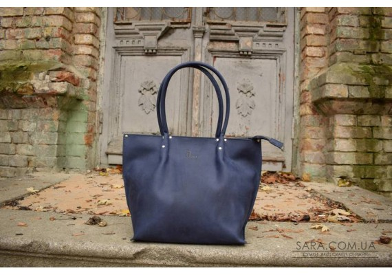 Сумка шкіряна Shopper Blue 894062 Babak