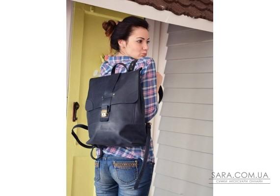 Рюкзак шкіряний Sampo Blue 895062 Babak