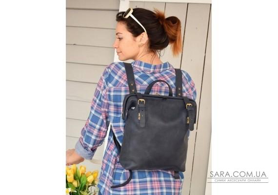 Рюкзак шкіряний MONE Blue 897062 Babak