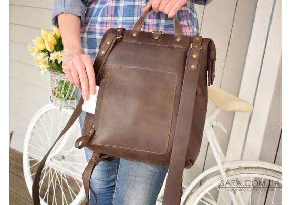 Рюкзак шкіряний MONE Brown 897051 Babak