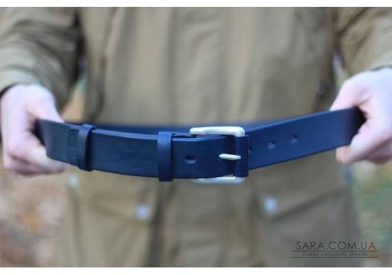 Ремінь шкіряний синій 4.0 см 40С Babak