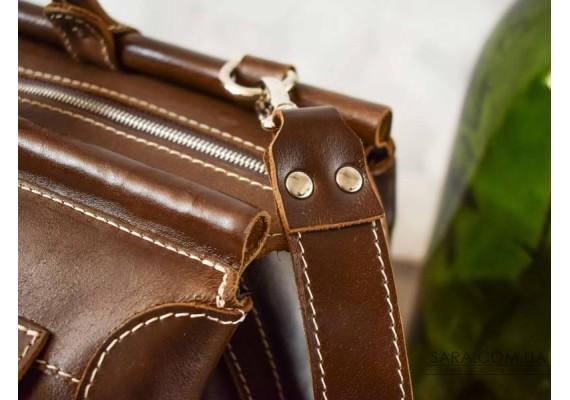 Саквояж кожаный Nut Pull Up 702083/51 Babak