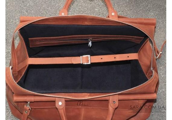 Саквояж кожаный Cognac 702065 Babak