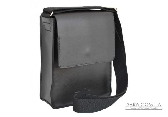 566 сумка шкіра чорна Lucherino
