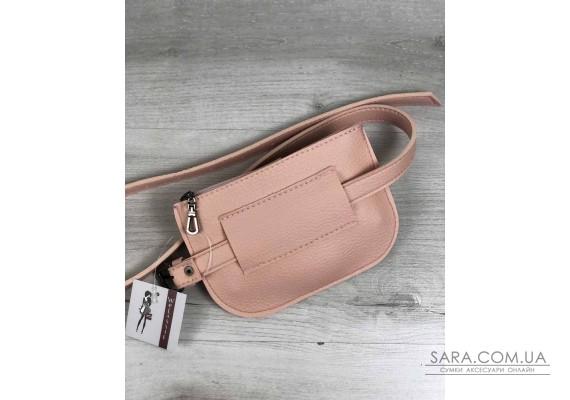 Жіноча сумка на пояс Кеті бежевого кольору WeLassie