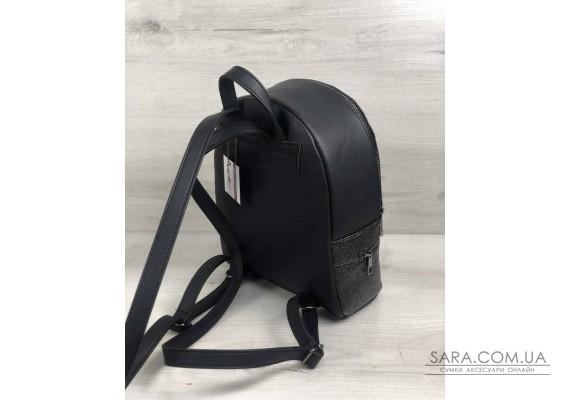 Стильний молодіжний рюкзак Ріна чорний блиск WeLassie