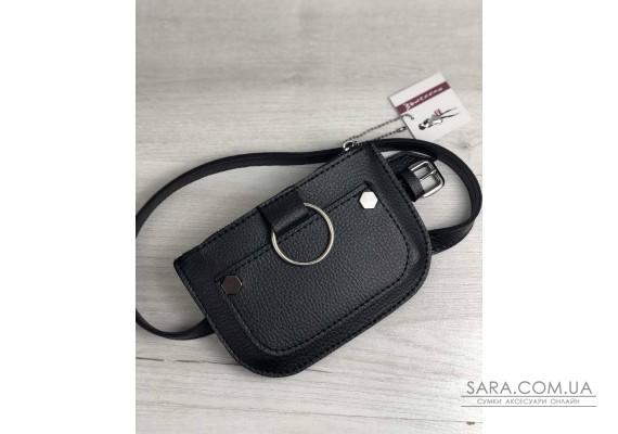 Жіноча сумка на пояс Кеті чорного кольору WeLassie