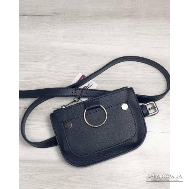 a7cb66bf0658 Купить Женская сумка на пояс Кэти синего цвета WeLassie дешево от ...