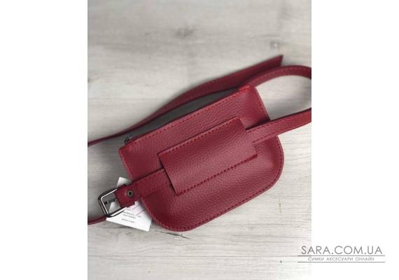 Жіноча сумка на пояс Кеті червоного кольору WeLassie