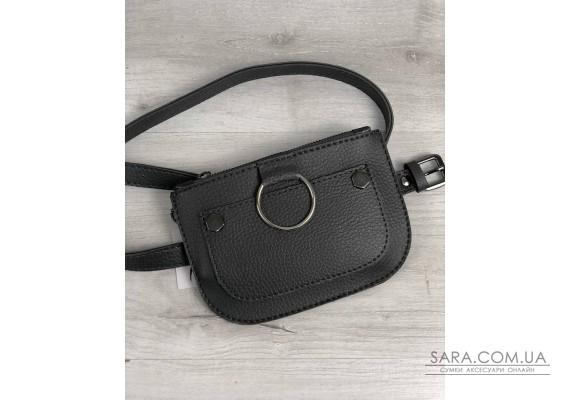 Жіноча сумка на пояс Кеті сірого кольору WeLassie