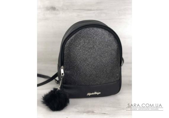 Стильний молодіжний рюкзак Мері чорний блиск WeLassie