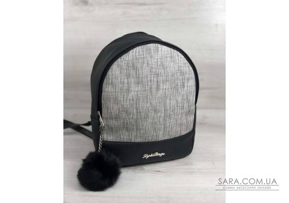 Стильний молодіжний рюкзак Мері сірий блиск WeLassie