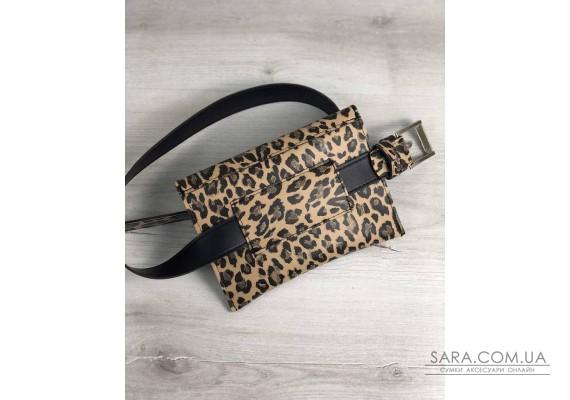 Жіноча сумка на пояс леопард WeLassie