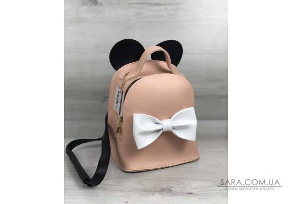 Сумка - рюкзак Міккі бежевого кольору WeLassie