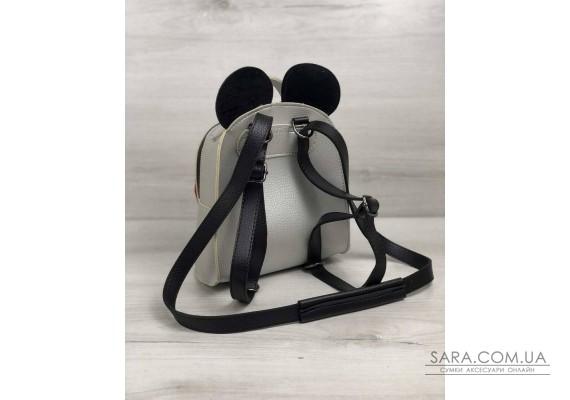 Сумка - рюкзак Міккі срібного кольору WeLassie