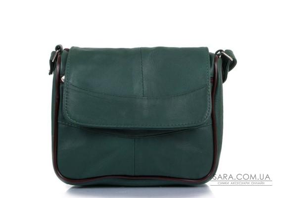 Жіноча зелена шкіряна сумка TUNONA sk2410-28