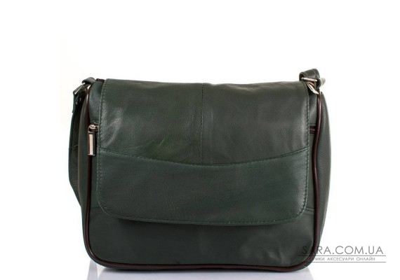 Жіноча шкіряна зелена сумка-месенджер TUNONA SK2416-27