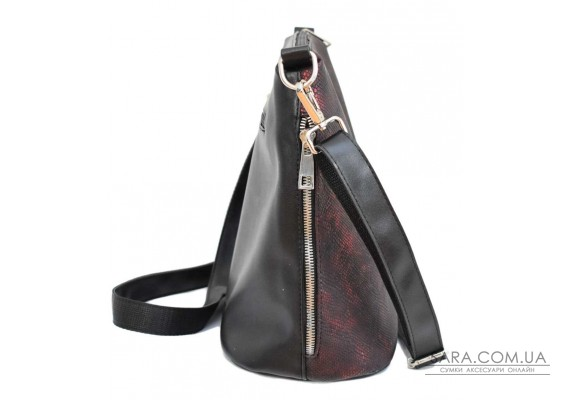 322 сумка пітон чорна бордо н Lucherino