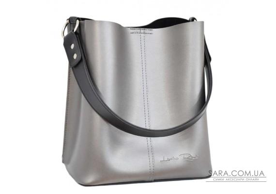 573 сумка чорна срібло н Lucherino