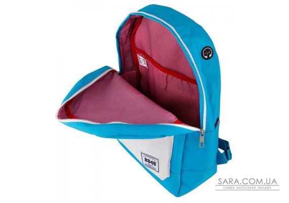 Рюкзак міський 8848 Блакитний з білим кишенею