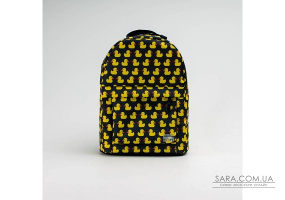 Чорний рюкзак mini з качками TwinsStore