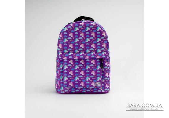 Фіолетовий рюкзак mini з єдинорогом TwinsStore