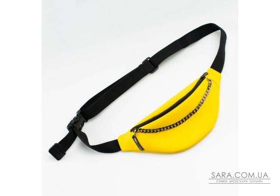 Жовта шкіряна (PU-шкіра) бананка з ланцюжком TwinsStore