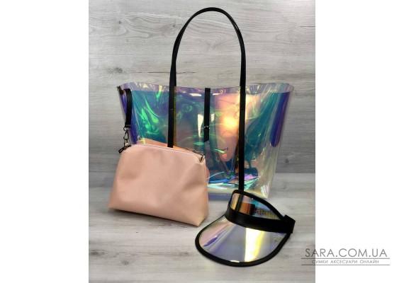 3в1 Молодежная Перламутровая силиконовая сумка и кепка WeLassie